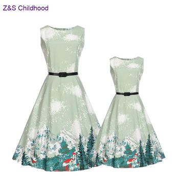 Sleeveless Little Big Sister Match Mother Daughter Dresses Summer Family Dresses Drop Shipping Matching Mother Daughter Clothes