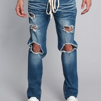 Distressed Fade Denim Jeans DL1233 - JJ13B