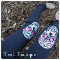 Sugar Skull Leggings by SheaBoutique on Etsy