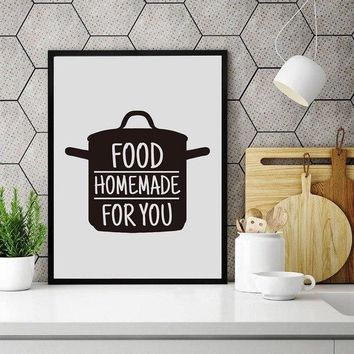 Cooking With Love Kitchen Wall Art Prints And Poster Baking With Heart Canvas Painting Wall Pictures Home Kitchen Decor