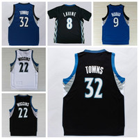 Cheap 32 Karl Anthony Towns Jerseys Karl-Anthony Uniforms 8 Zach LaVine 22 Andrew Wiggins Sports Shirt 9 Ricky Rubio Basketball Jerseys