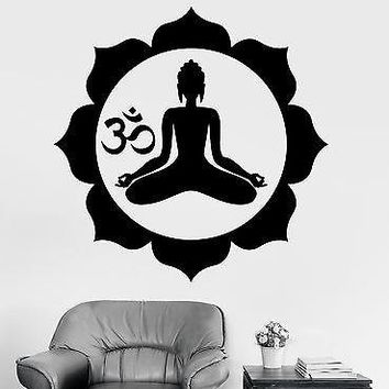 Wall Sticker Buddha Chakra Mantra Om Meditation Vinyl Decal Unique Gift (z2916)