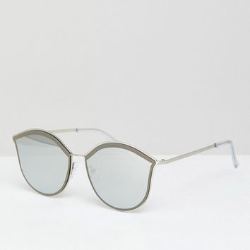 Jeepers Peepers Round Sunglasses In Silver at asos.com