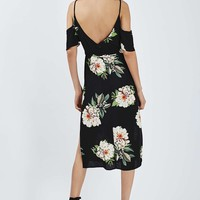 Floral Cold Shoulder Dress - Topshop