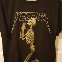 yeezus shirt kanye west shirt yeezy shirt yeezus tshirt kanye west tshirt size S-XXXL, black - white - gray color available