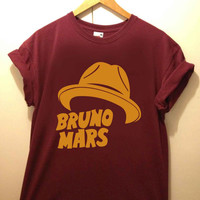 Bruno Mars Hat tshirt for merry christmas and helloween