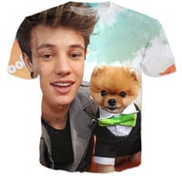 Cameron Dallas W/ Jiff Pom Shirt