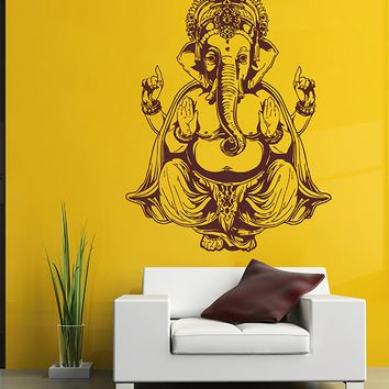 ik2876 Wall Decal Sticker elephant god Ganesha Hindu bedroom living room