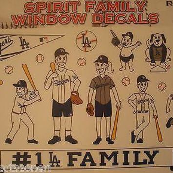 Los Angeles Dodgers Family Spirit Window Decals