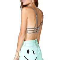 Bitching And Junkfood Wink Shorts - Mint