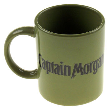 Captain Morgan Rum Seeking First Mate Green Coffee Mug Tea Ceramic Sexy Lady
