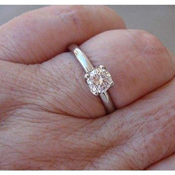 0.55 Carat Transitional Old European Cut Diamond 4 Tulip Prong 14K Engagement  Ring 4dd899399