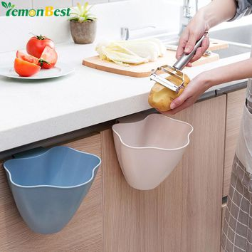 Kitchen Trash Bin Sundries Storage Box Closet Door Hanging Trash Can Office Garbage Organizer Debris Container Storage Boxes