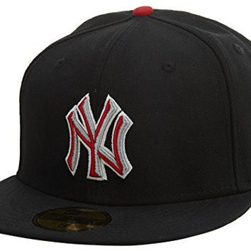 Boston Red Sox New Era Fitted Hat Style: HAT-BLACK/REDGREYWHITE Size: 7 3/4