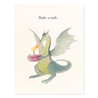 Make a Wish Dragon Birthday Card
