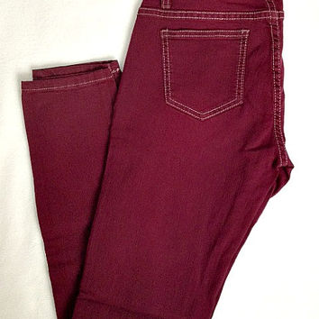 Burgandy Skinnies