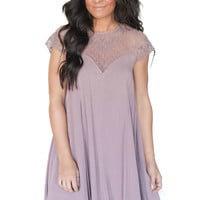 Such A Doll Crochet Detail Sweetheart Dress- 3 Colors