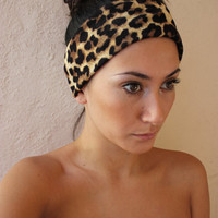 Cheetah print Headband by ThreeHeartZ on Etsy