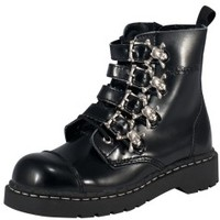 TUK Shoes Skull Buckle Combat Boot