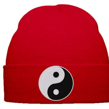Yin Yang beanie winter hat