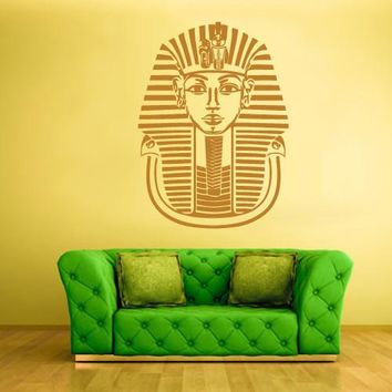 Wall Decal Decal Sticker Bedroom Decals Egypt Face Antic Pharaoh Tutankhamun  z609