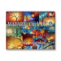 NEW Colorful MADART 2015 Circle of Life Calendar | Zazzle