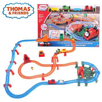 Thomas & Friends Matel Series Mini Car Toy Magnetic Electric Train Track Brinquedos Clay Pits Discovery Funny Thomas Toy For Kid