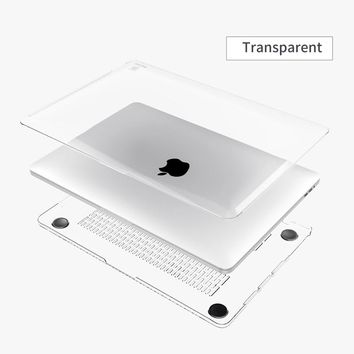 Baseus Slim PC Laptop Case Cover for Apple New Macbook Pro 13 15 2016 Tablet With Touch Bar Crystal Clear Full Body Shell Skin