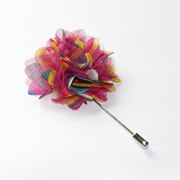Pink Multicoloured Lapel Pin