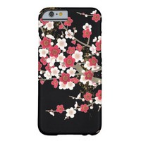 Pink & White Sakura Vintage Japanese Flower Barely There iPhone 6 Case