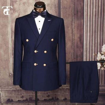 Men's Double Breasted Business Suit