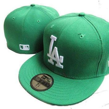 Los Angeles Dodgers New Era Mlb Authentic Collection 59fifty Cap Green White La