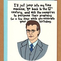 Giles birthday card  buffy the vampire slayer by BettyTurbo