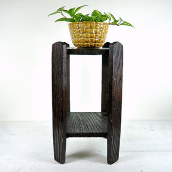 Vintage Arts and Crafts Table or Plant Stand by havenvintage