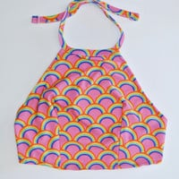 Rainbow Waves Halter Top