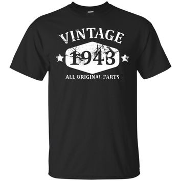Funny Vintage 1943 74th Birthday Gift T-shirt Best Emoji Tee