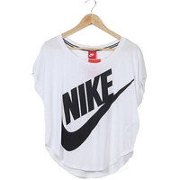 """NIKE"" Fashion Casual Letter Print Women Short Sleeve Loose Sports T-shirt Tops"