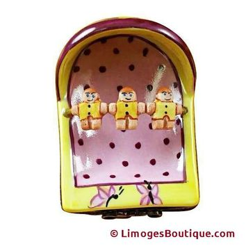 PINK/YELLOW CRADLE FIGURINE LIMOGES BOXES