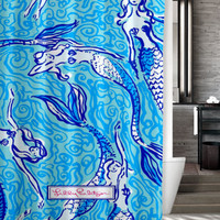 "New Design Favorite Mermaid lilly pulitzer Lilly Custom Shower Curtain 66"" x 72"""