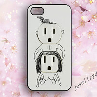 Electric Outlet iPhone 5/5S Bumper Case,Funny Plug Outlet iPhone 4/4s Case,making love iphone 5c case,samsung galaxy s4 s5 case,lovers gifts