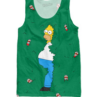 Homer in Bushes Tank Top