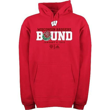 adidas Wisconsin Badgers Sweatshirt Hoodie Hoody Rose Bowl Celebration Large