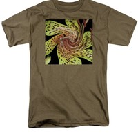 Lily AbstractFlower Pattern T-Shirt