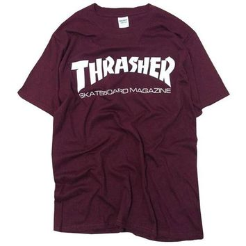 DCCK7G2 New thrasher T Shirt Men Skateboards tee Short Sleeve skate Tshirts Tops Hip Hop T shirt homme Man Magazine trasher T shirts