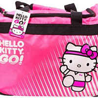 Hello Kitty Sports Duffle Bag, Hot Pink, 20.5 x 11.8-Inch