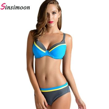 Push Up Bikini Set Sexy Swimsuit Underwire Women Swimwear Bathing Suits