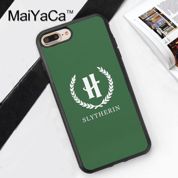 Slytherin Harry Potter Printed Soft TPU Skin Cell Phone Cases For iPhone 6 6S Plus 7 7 Plus 5 5S 5C SE 4 4S Back Cover Shell