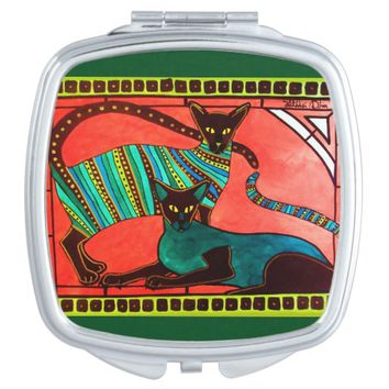 Legend of the Siamese - Whimsical Cat Art Vanity Mirror