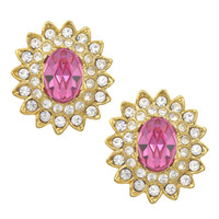 Kenneth Jay Lane Pink Starburst Earrings | SOPHIESCLOSET.COM | Designer Jewelry & Accessories