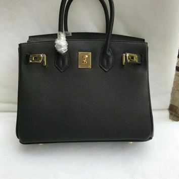 DCCK 012 Hermes Stylish and beautiful platinum handbag with hand print Black